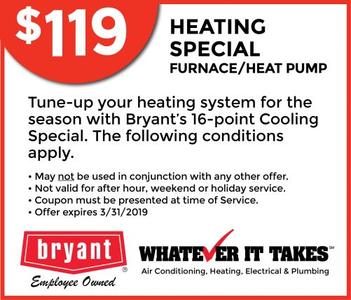 , Specials, Bryant Lincoln AC Repair, Heating, Electrical & Plumbing   Lincoln NE