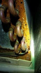 Rusty Evaporator Coil
